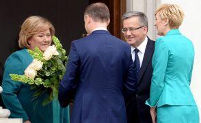 22.06.2015 | Belweder: spotkanie prezydentów - ustępującego i elekta
