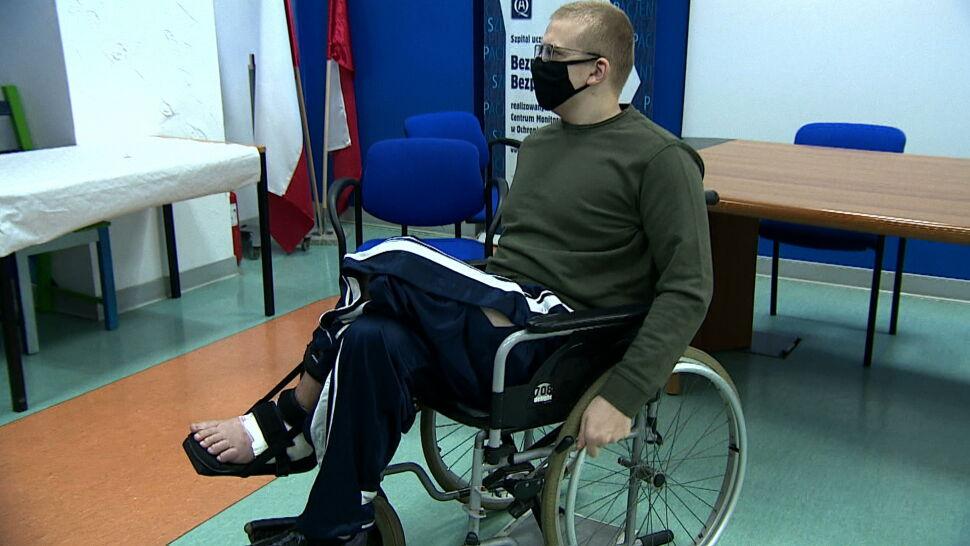Kika miesięcy temu groziła mu amputacja. Chirurdzy uratowali stopę 17-latka