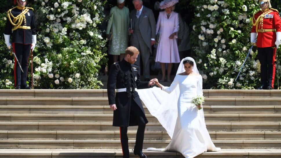 """Ślub jak z bajki. Harry i Meghan powiedzieli sobie """"tak"""""""