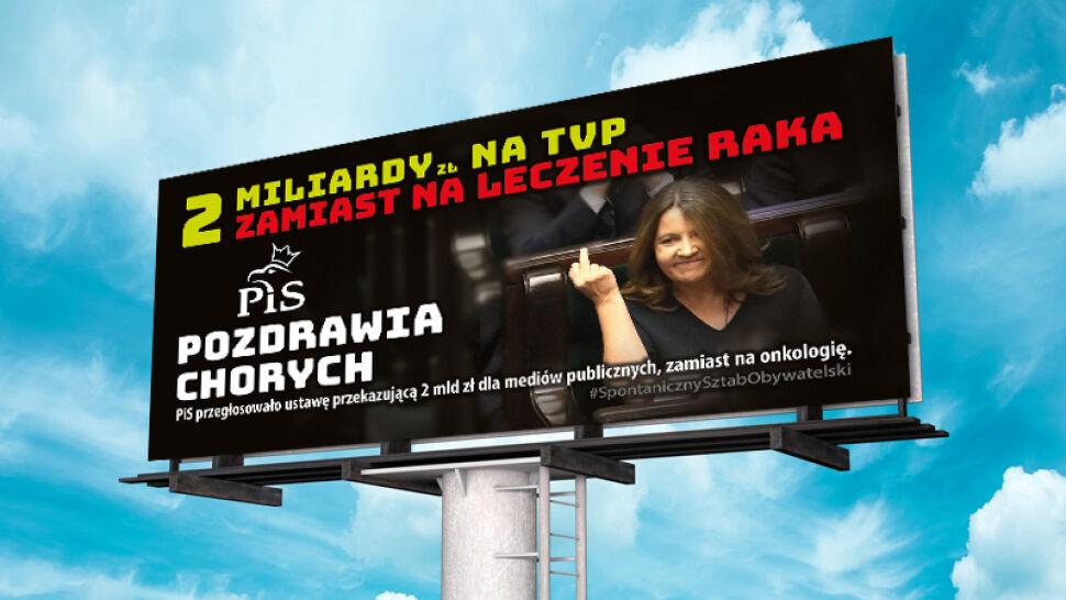 Billboardy z gestem Lichockiej. Posłanka chce przeprosin