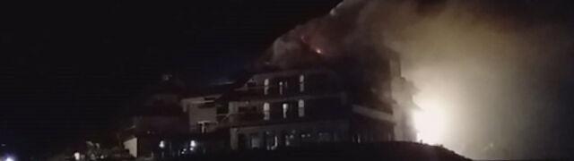 Pożar hotelu w Beskidach. Ewakuacja