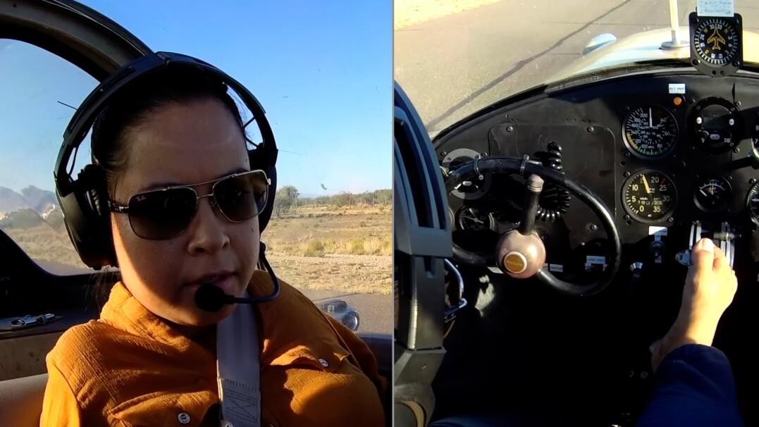 Pierwsza pilotka, która uzyskała licencję mimo braku rąk