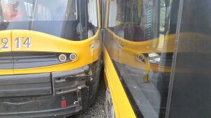 Wykolejenie i zderzenie tramwajów. Utrudnienia