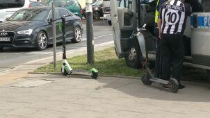 Auto potrąciło małoletnich na hulajnogach.