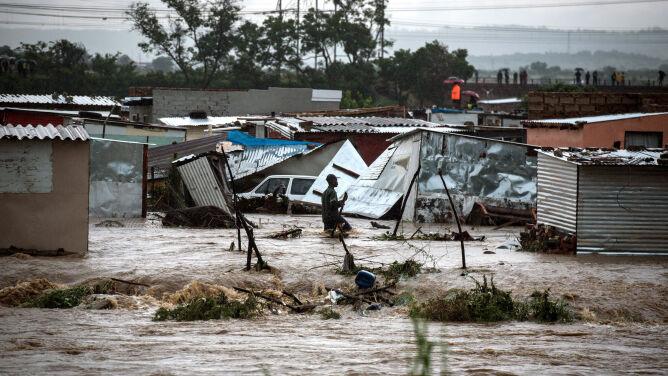 Powodzie po ulewnym deszczu. <br />Niebezpieczna pogoda w RPA