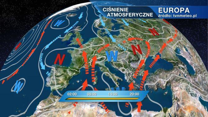 Zatoka niżowa kształtuje pogodę w Polsce