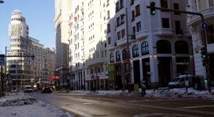 Śnieg i oblodzenia dokuczają Hiszpanom (fot. PAP/EPA)