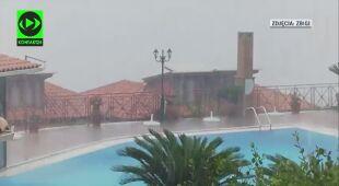 Medikan zbliża się do Grecji. Na Zakhyntos pada ulewny deszcz