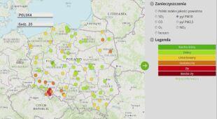 Jakość powietrza w Polsce (GIOŚ)
